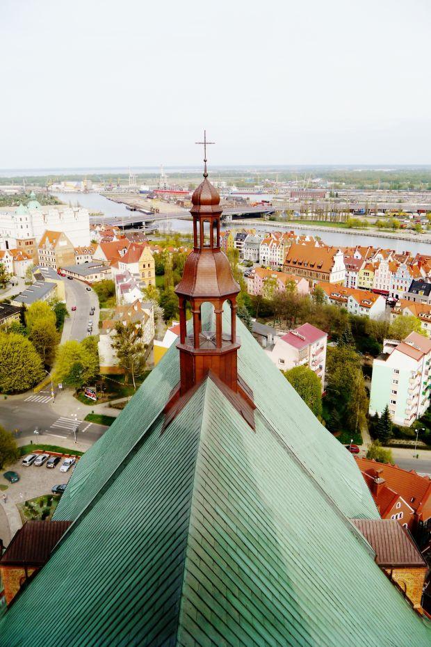 Szczecin widziany z wieży katedry. Autor zdjęcia; Adam Pelikan, www.pelikandj.tumblr.com