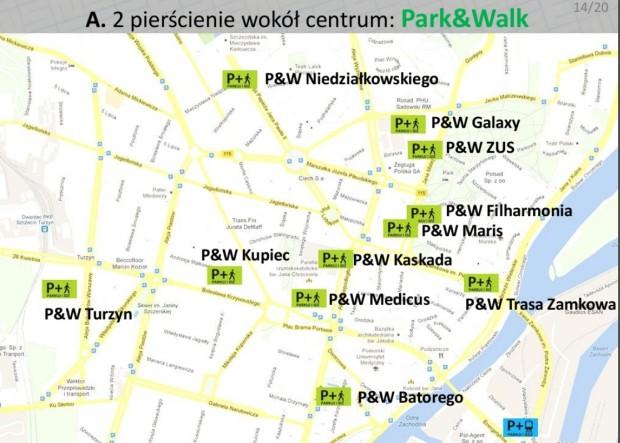 Parkingi park&walk w centrum Szczecina