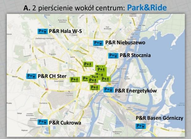 Tak ma wyglądać lokalizacja parkingów park&ride
