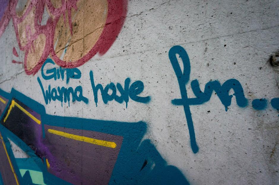 Sam streetart jest trudny do zdefiniowania... czasami może to być zwykły napis.