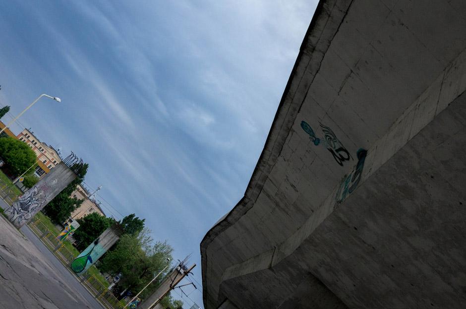 Nie byłem pewien, czy to zaciek, czy street-art ;)
