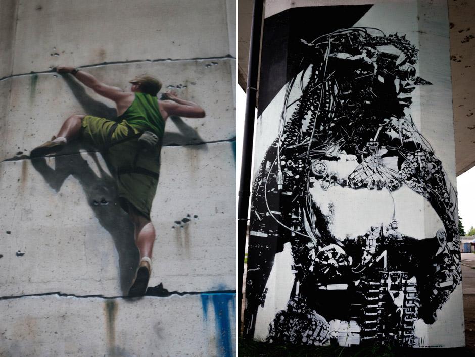 Moje, dwa ulubione dzieła z filarów Trasy Zamkowej.