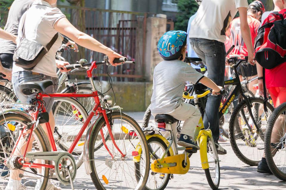 Cieszyła duża ilość dzieci -  jak dorosną będą żyć w pełni rowerowym Szczecinie.