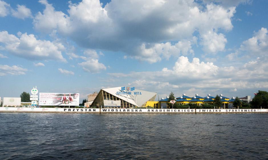 Wyspa Jaskółcza - z siedzibą AZSu.