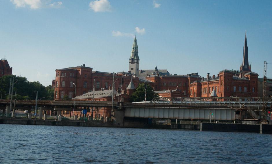 Budynek poczty, PUM i Katedra.
