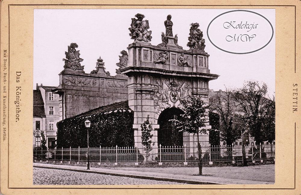Brama Królewska. Kamienice w tle urosły nieco od czasu zrobienia tego zdjęcia.