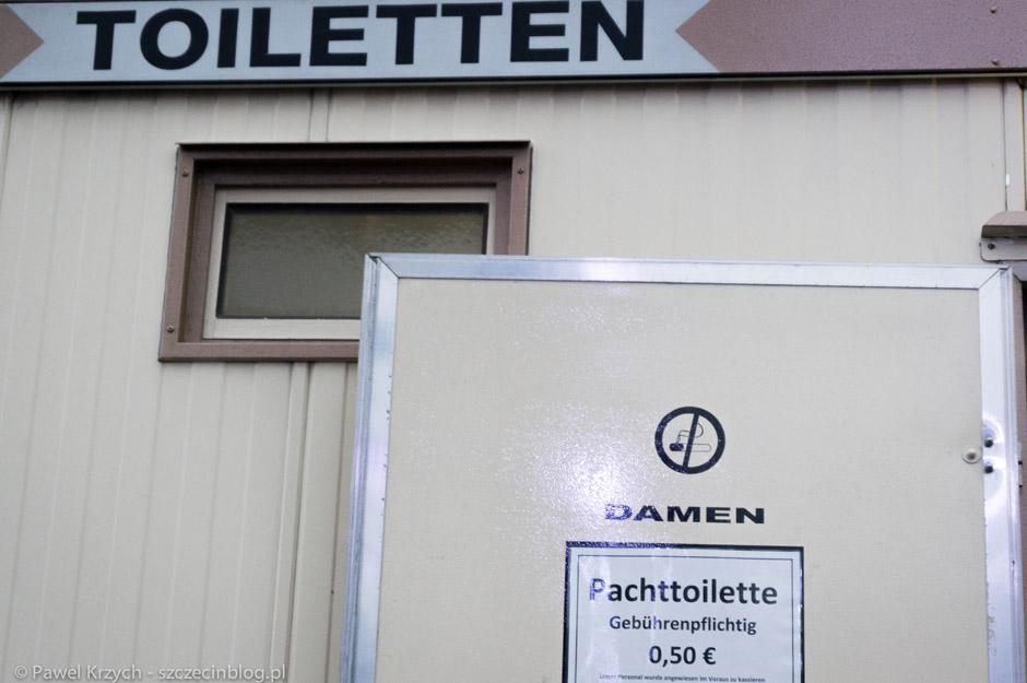 Toalety tańsze, niżna naszym dworcu PKP w Szczecinie.