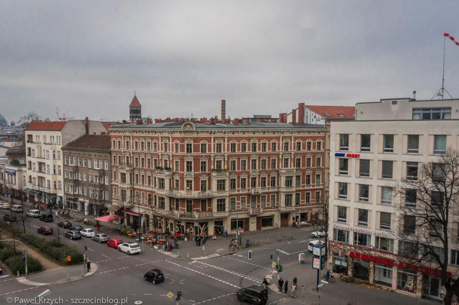 Widok z hotelowego okna. Okolice Senefelderplatz.