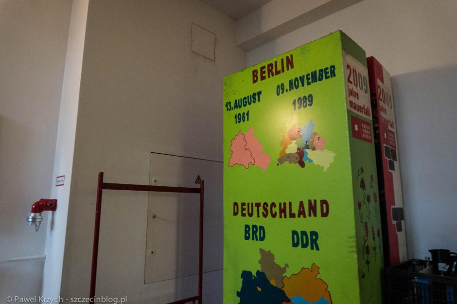 Element ekspozycji, który został przygotowany w ramach obchodów rocznicy upadku muru berlińskiego w 2009 roku. Powstało wielkie domino.