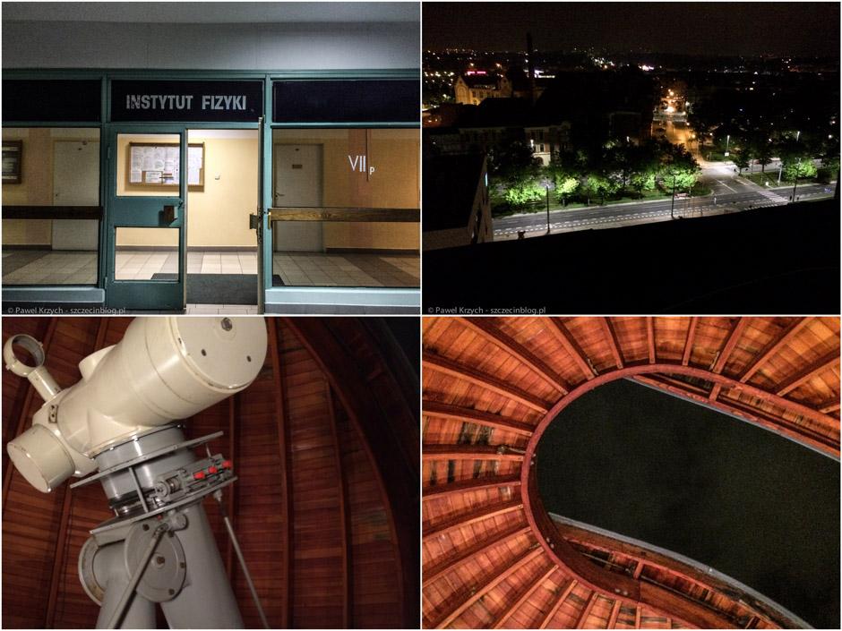 Ostatni przystanek - obserwatorium w BMW na ZUT. Rewelacyjne miejsce, pasjonaci wszędzie.