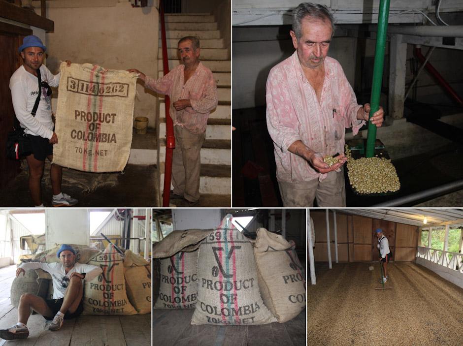 Tomasz Weczer (właściciel Columbus Coffee) w Kolumbii. Dopłynął tam żaglowcem.