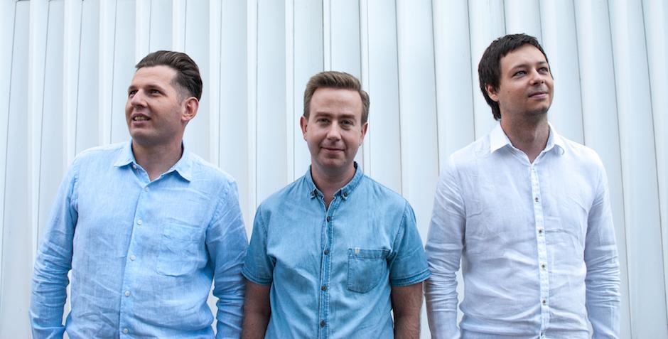 Organizatorzy - od lewej - Marcin Przeworski, Michał Hamera oraz Konrad Dembczyński