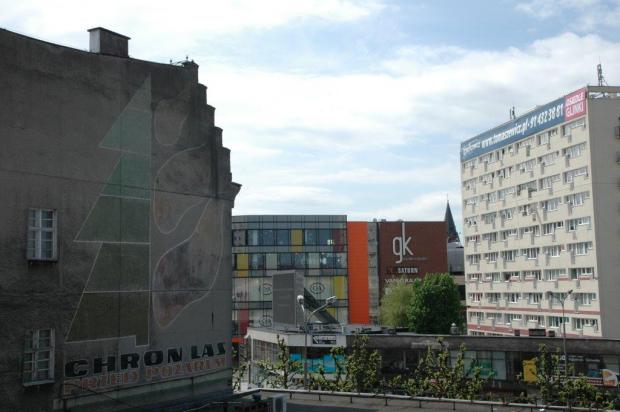 Mural obrazujący potrzebę ochrony lasów przed pożarami na al. Jana Pawła II.