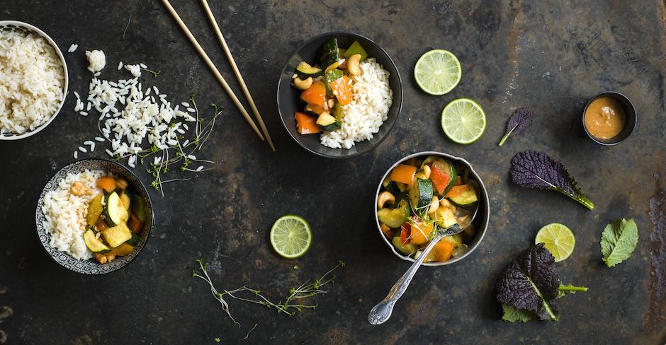 Thai Gemse mit Reis